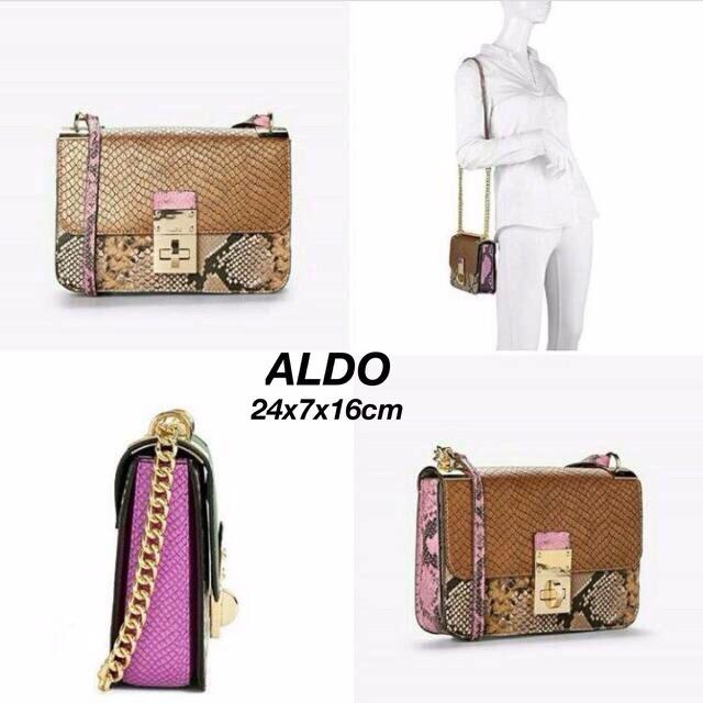 6d57f42b36d Aldo Stamp Box Crossbody Bag Original