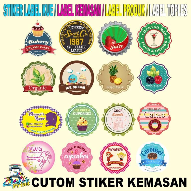Cetak Stiker/ Buat Stiker/ Stiker Label Makanan Minuman/ uk. 2x2 CM