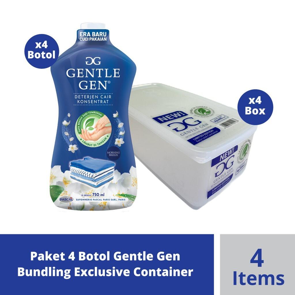 Paket 4 Botol Gentle Gen Bundling Exclusive Container