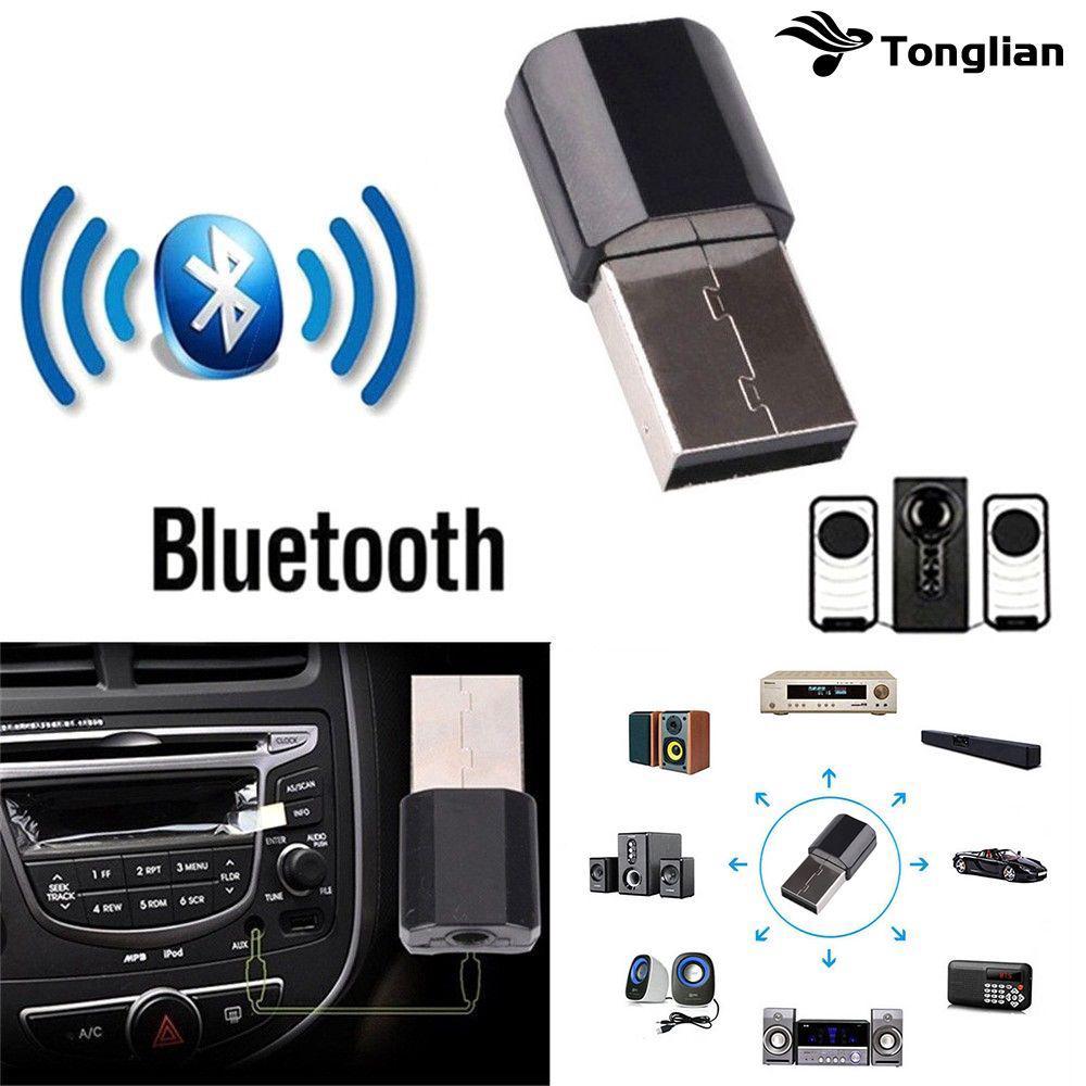 Adapter Receiver AUX Audio Stereo Musik USB Wireless Bluetooth Mini Plug 3.5mm untuk Mobil