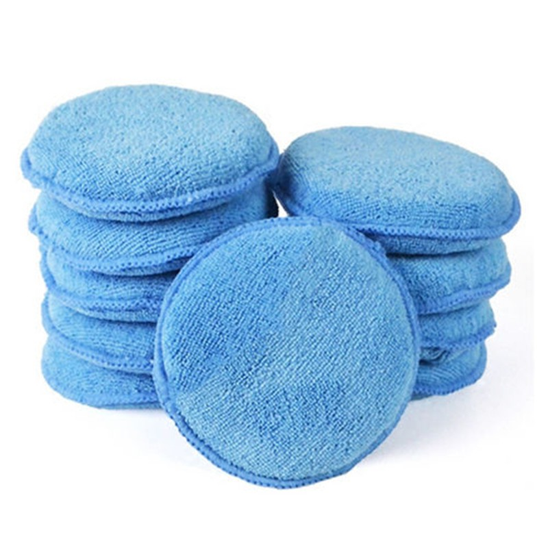 ❤❤ 1x Polish Foam Sponge Car Applicator Cleaning Microfiber Waxing Pads
