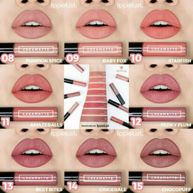 Emina Creammatte Lipstick / Lip Cream Emina / Creammatte