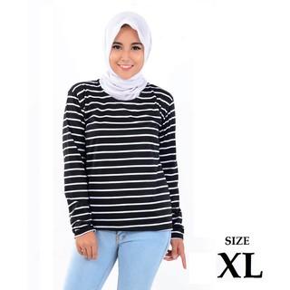 BESS - Kaos Salur Lengan Panjang XL / STEVY TOP Salur Ukuran XL