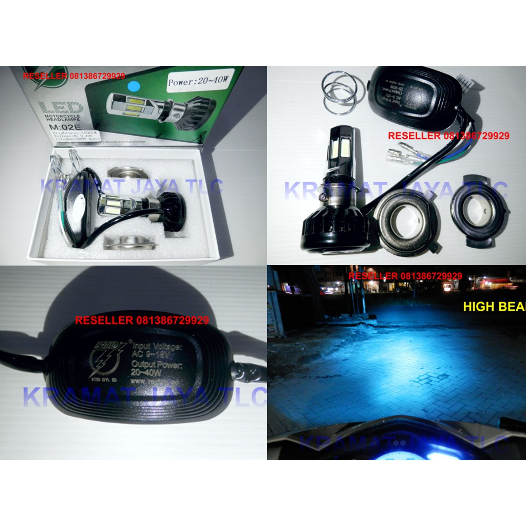 Lampu Utama Led Cree 6 Sisi Rtd Headlamp Unjversal Motor Shopee Depan Mata M02e Super Terang Indonesia