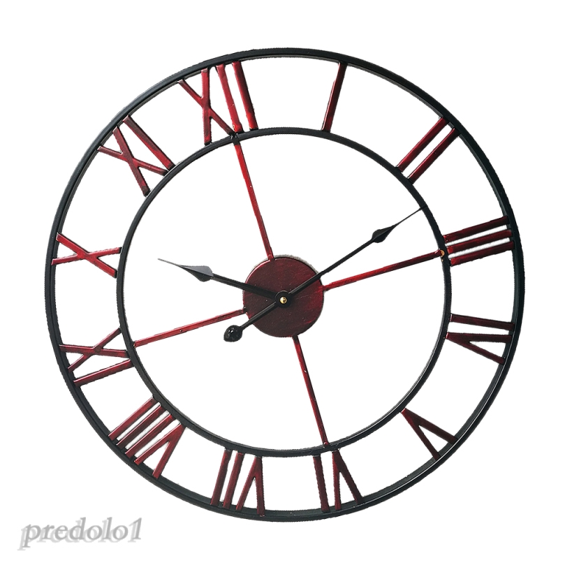 Needle Strip Wall Clock Rome Numeral Big Display Clock Easy Read Classic Roman