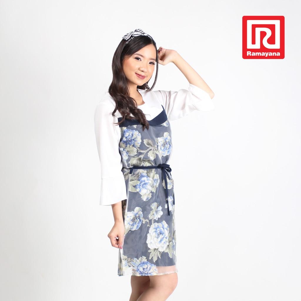 9a242ac420015 SALE MIDI DRESS CASUAL GREEN EVALINE MAEVE BRANDED MURAH PROMO | Shopee  Indonesia