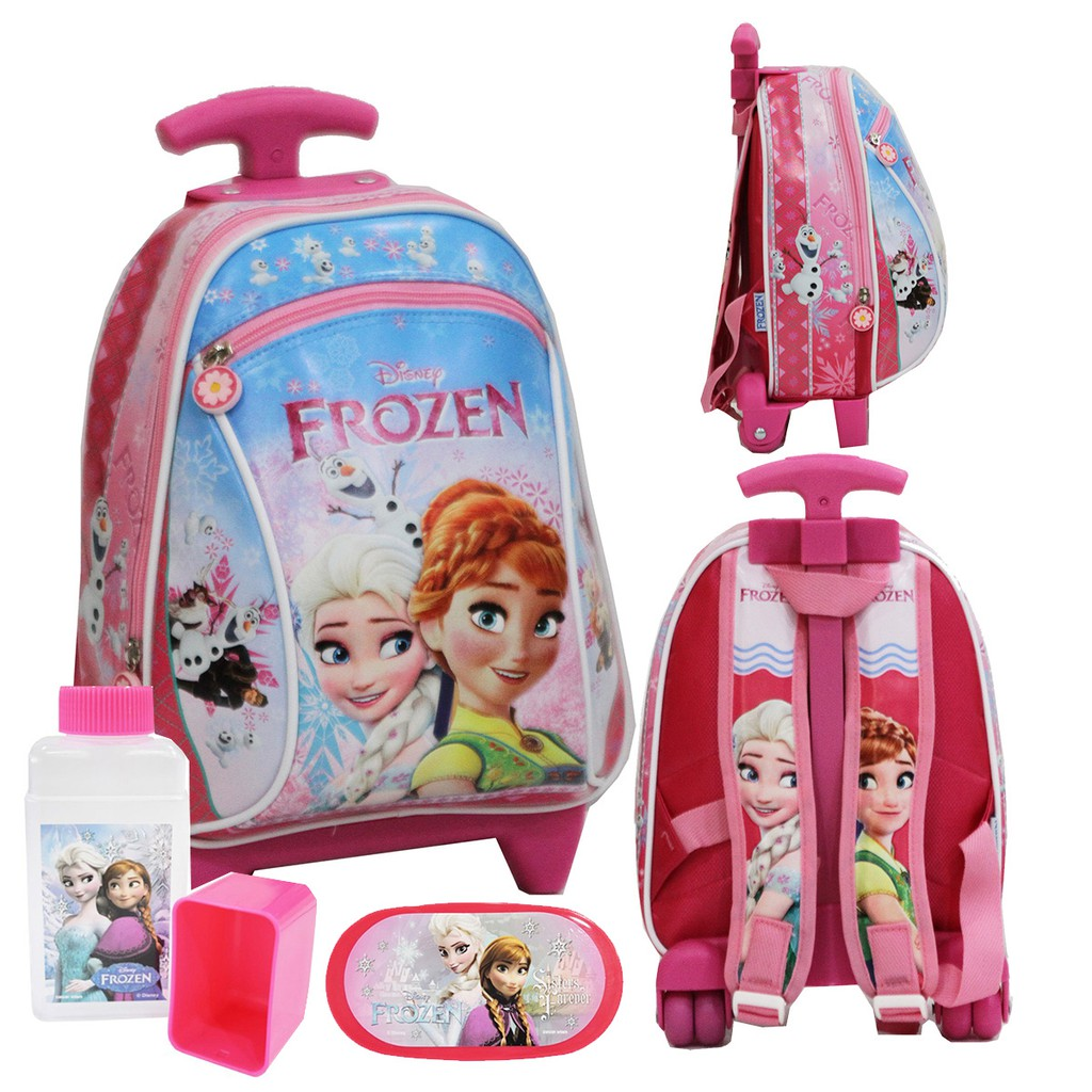 Tas Anak Sekolah PAUT Frozen Cantik Bahan Kain Sponge Tahan Air+Botol Minum   4d50adf0ac