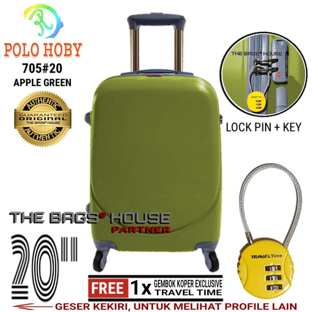 Polo Hoby Koper Hardcase Luggage 20 Inchi 705 Anti Theft Green Tas Fiber Abs Kabin Size Inch 708 President 526724 Hard Case 24 Frame Tsa Silver Shopee Indonesia
