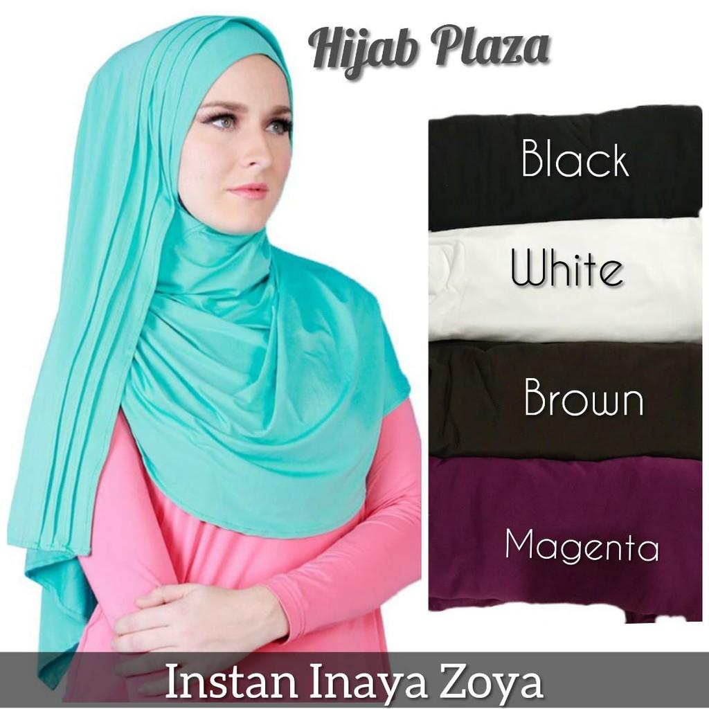Pasmina Zoya Selendang Instan Inaya Shopee Indonesia