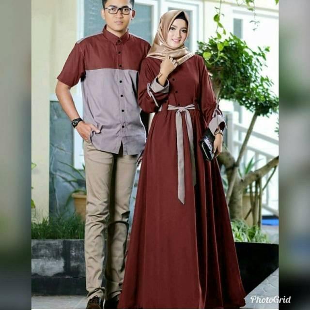 Couple Armada Baju Couple Couple Muslim Couple Kondangan Couple Modis Couple Kekinian Gamis Shopee Indonesia Kalau belum punya pasangan, tetep berangkat kondangan aja.
