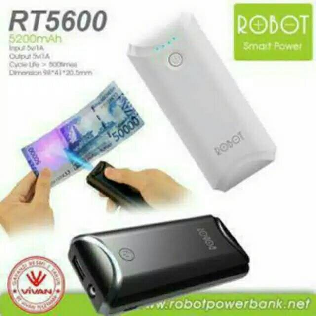 Powerbank Robot rt5600 5200mah original by vivan