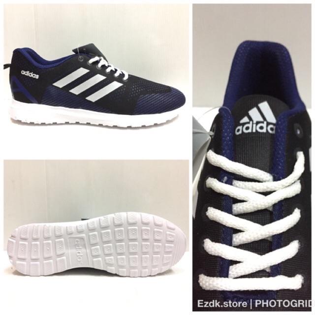 Sepatu adidas cloudfoam adizero murah running terbaru jogging warna abu  biru  5babfc5356