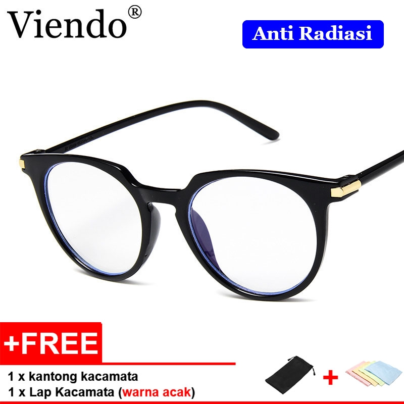 Viendo Plastik Korean Imut Frame Kacamata Wanita Pria Anti Radiasi Kacamata  Komputer  4b0a2a0ab5