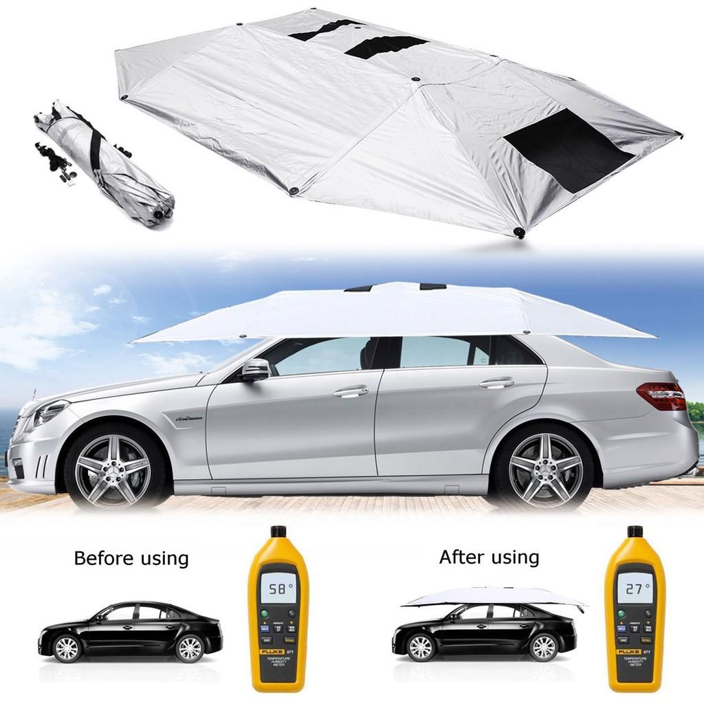 Outdoor Car Storage >> Bayar Di Tempat Manual Outdoor Car Tent Umbrella Roof Sunshade Cover Uv Protection Kit