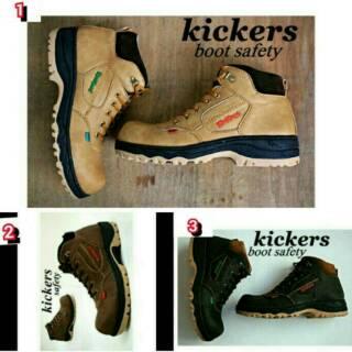 Spesial Harga Sepatu Safety Boots KICKERS Semi Kulit Boot Murah Pria 29daf4bb9b