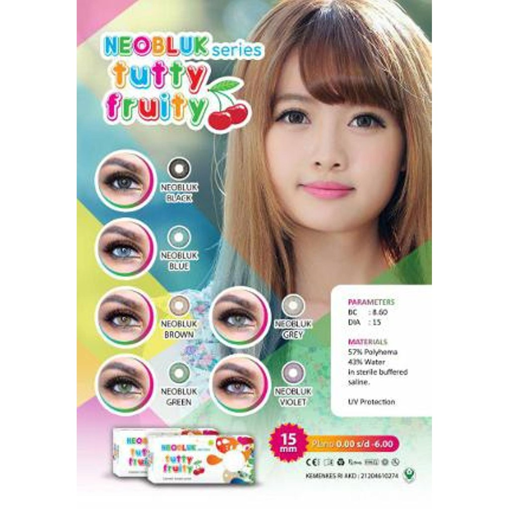 Softlens Neobluk Tutty Fruity Soflents Murah Soflen Normal Softlen Diva Queen One Layer With Clear Vision Soflens Contactlens Shopee Indonesia