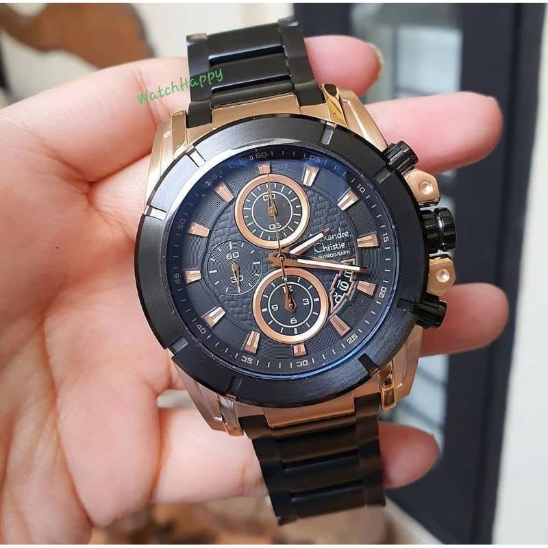 Alexandre Christie AC 6226 MC AC6226 MC 6226 MC 6226MC Mens Watch Black Rose Gold 100%Original Resmi