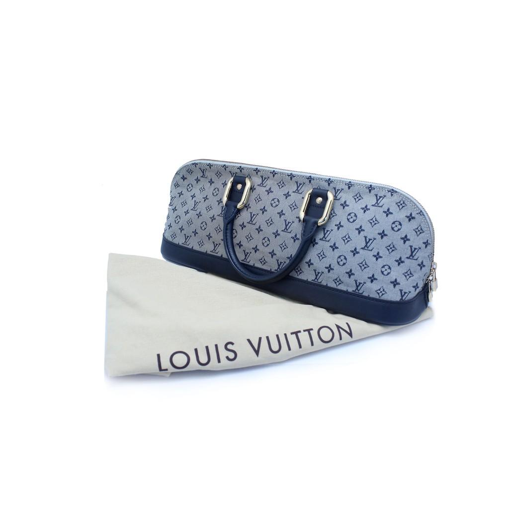 Louis Vuitton Navy Blue Monogram Mini Lin Alma Long Bag Shopee Indonesia