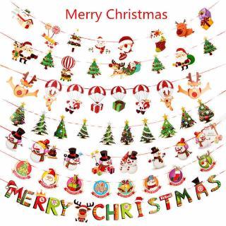 Banner Gantung Desain Santa Claus untuk Dekorasi Natal ...