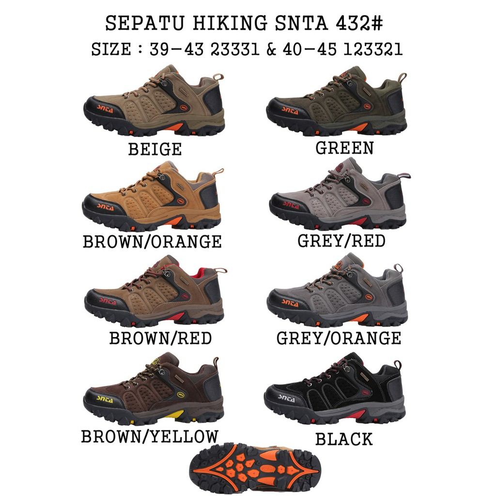 Hiking Shoes SNTA 432 Series Sepatu Gunung Snta Pendek Original ... d1a07fb91c
