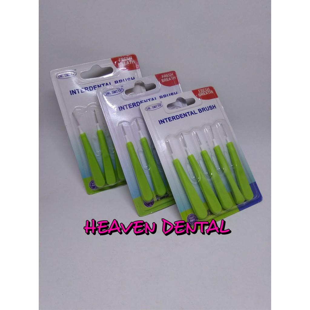 Interdental Brush Sikat Sela Behel Gigi Bengkok Dr Smith Premium Kawat Shopee Indonesia