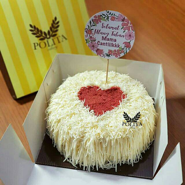 Kue Ulang Tahun Keju Dekorasi Hati Love Cake Cheese Cake Bolu Keju