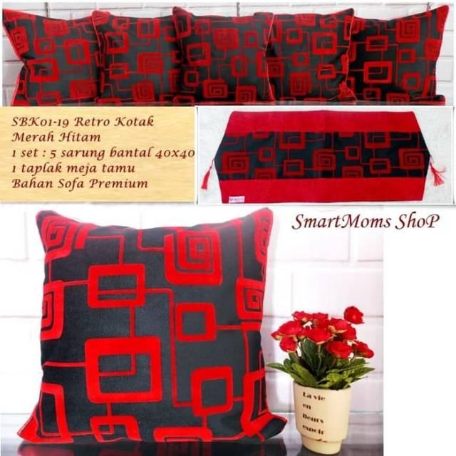 Sarung Bantal Sofa Minimalis Sarung Bantal Kursi Sbk Set Retro