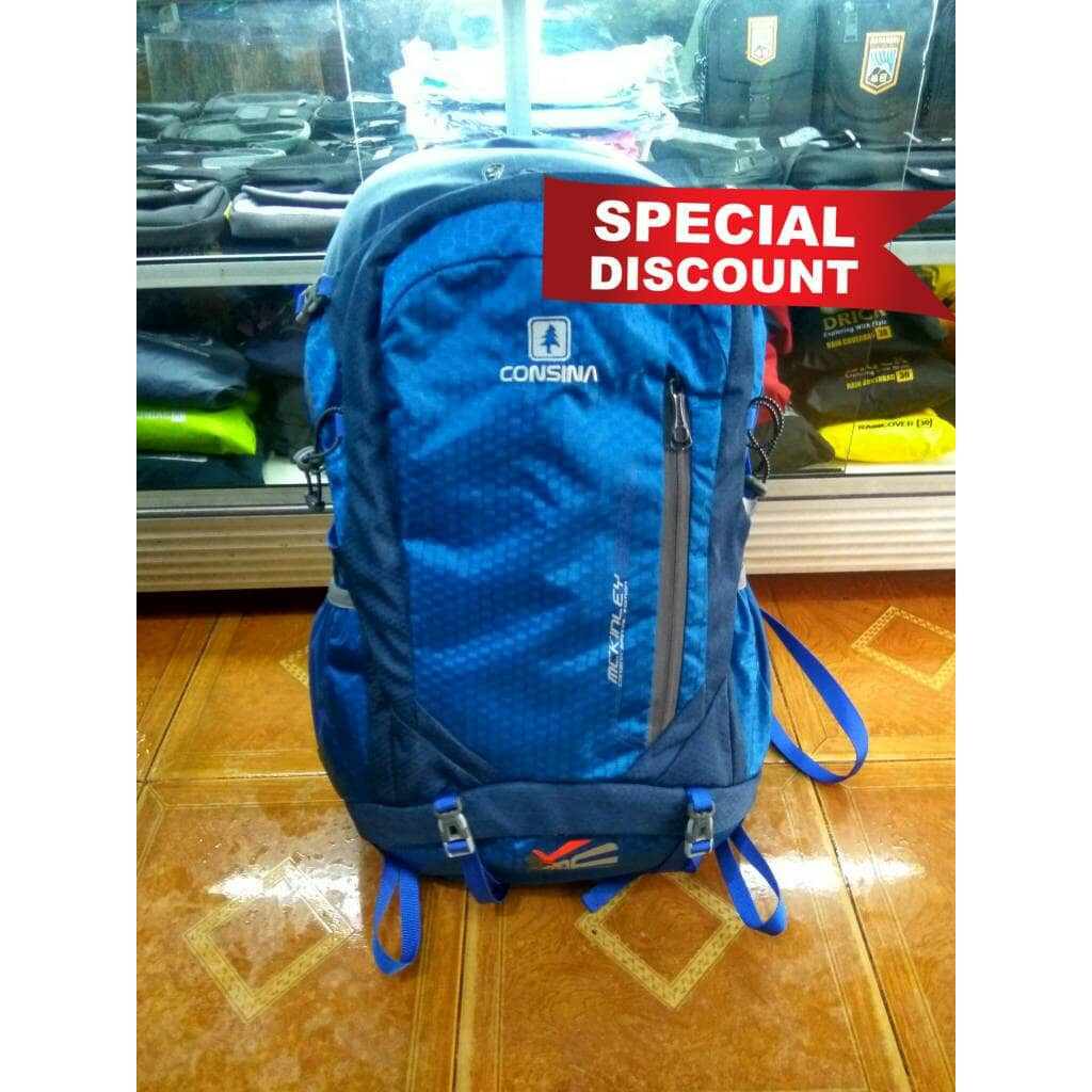 Tas Gunung Adventure Mendaki Ransel Daypack Consina Harbour Backpack Shopee Indonesia