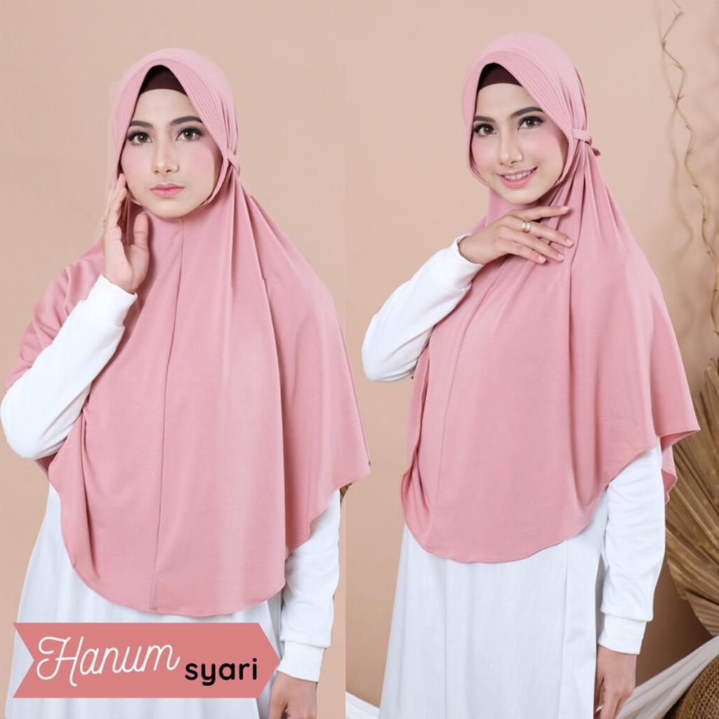 Jilbab Khimar Syari Instan Terbaru Hijab Hanum Shopee Indonesia