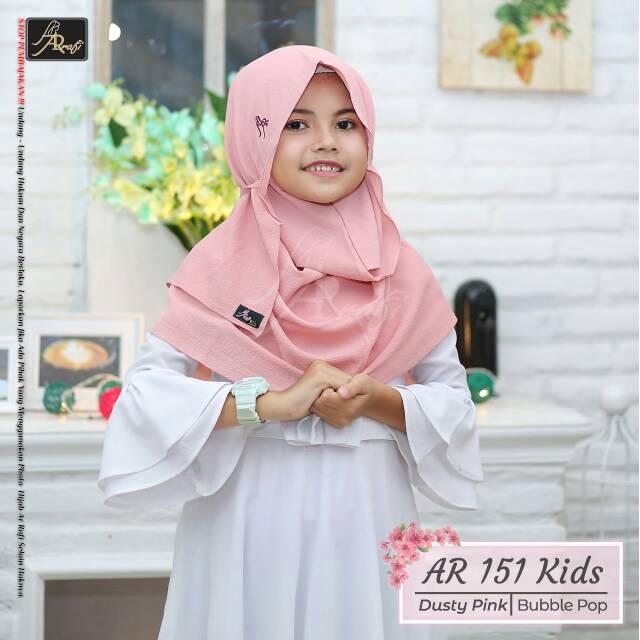 Hijab Ar Rafi Ar 151 Kids Hijab Anak Jilbab Instan Kerudung Branded Pashmina Instan Khimar Tali Anak Shopee Indonesia