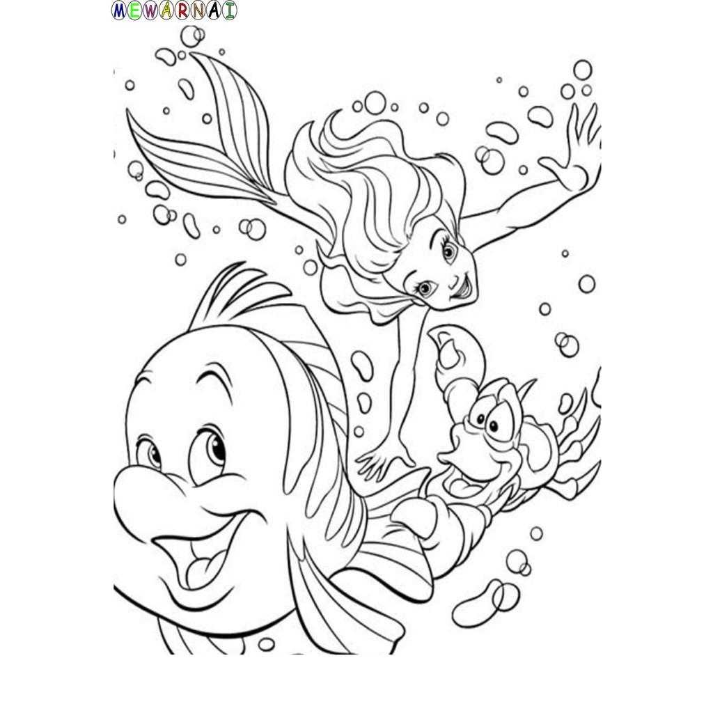 Paket Mewarnai Bisa Dipajang Little Mermaid
