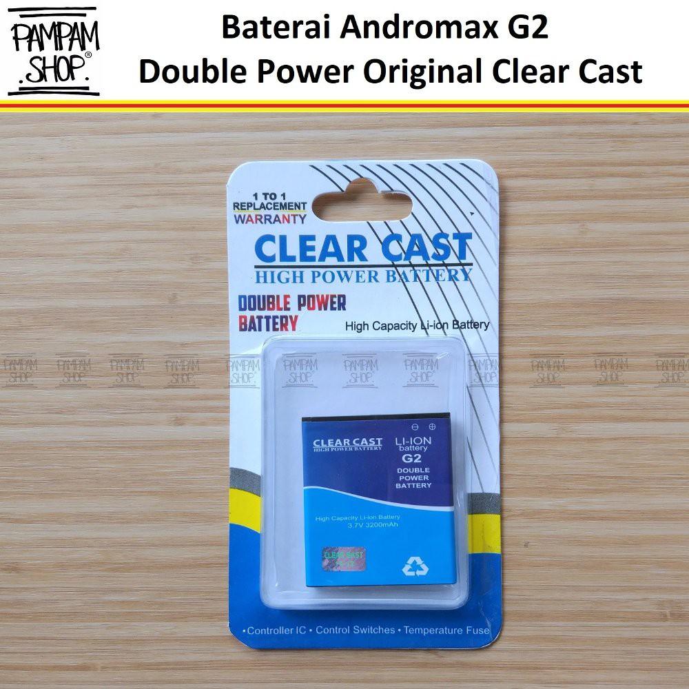 Baterai Clear Cast Double Power Original Smartfren Andromax G2 H11293 Batre Batai Dual High HP Ori