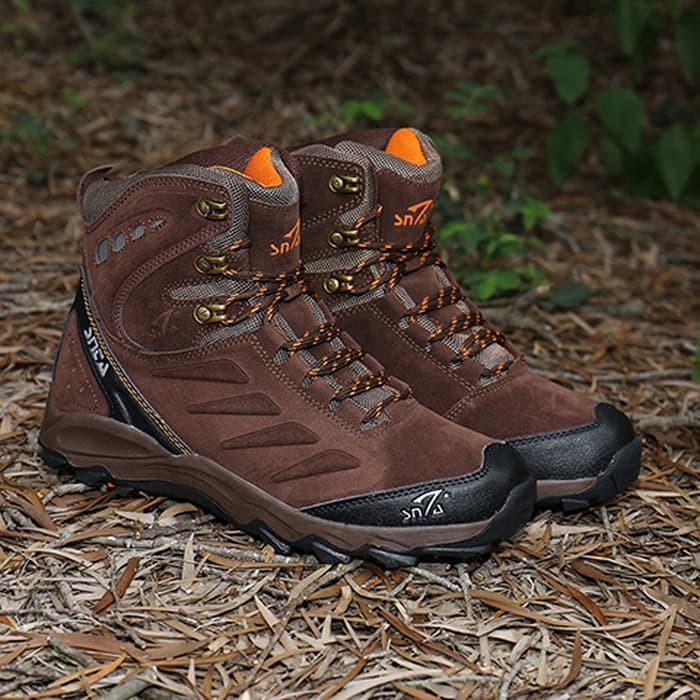 Sepatu Gunung/Hiking SNTA semi Waterproof - 488 BROWN ORANGE | Shopee Indonesia