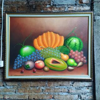 Lukisan Buah Buahan Bingkai Pigura Ukuran 80cm X 60cm Shopee Indonesia