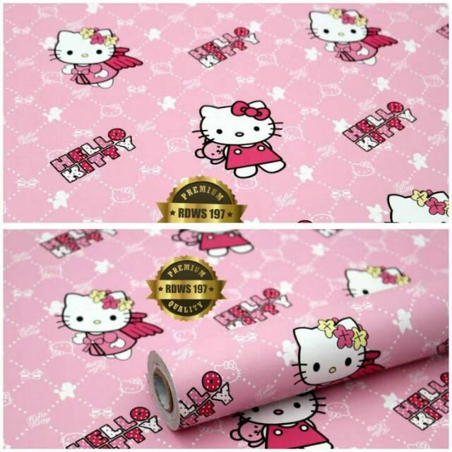 Wallpaper Sticker Dinding Murah Wallpaper Hellokityy Pink Bling2 Wallpaper Kamar Tidur Walpaper Cewe Shopee Indonesia