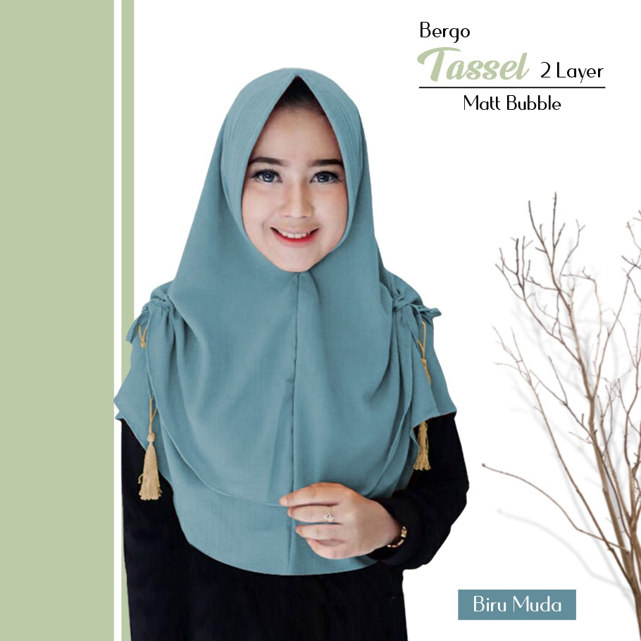 Bergo Tasselq3 Jilbab Instan Hijab Bergo Terbaru Jilbab Pet Instan Kerudung Instan Grosir Jilbab Shopee Indonesia