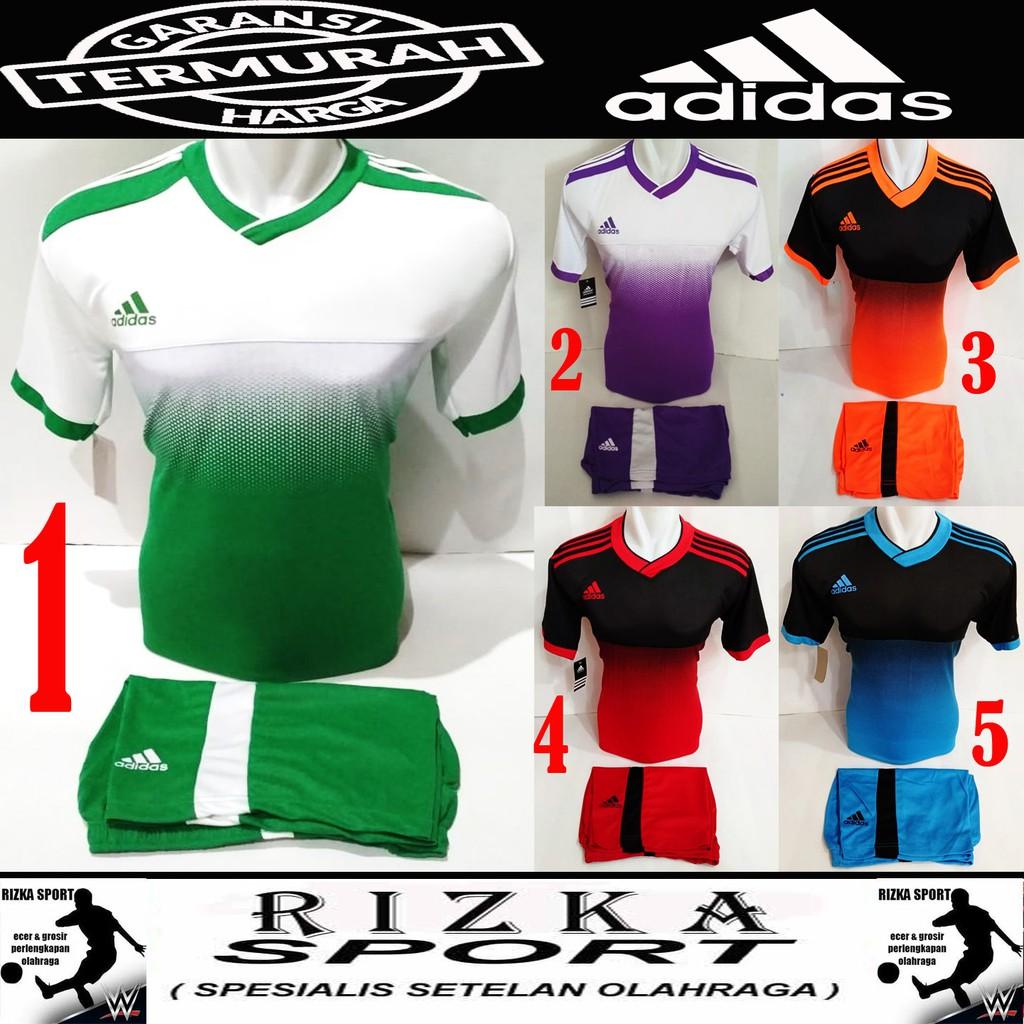 [ BEST SELLER AD 04 ] Baju Kaos Olahraga Jersey Bola Setelan Futsal / Volly Adidas | Shopee Indonesia