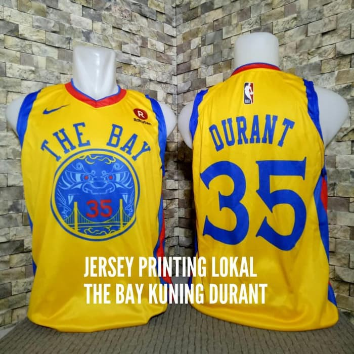 7ff2b59832f JERSEY BASKET NBA GOLDEN STATE WARRIORS THE BAY CITY EDITION  35 KEVIN  DURANT NAVY