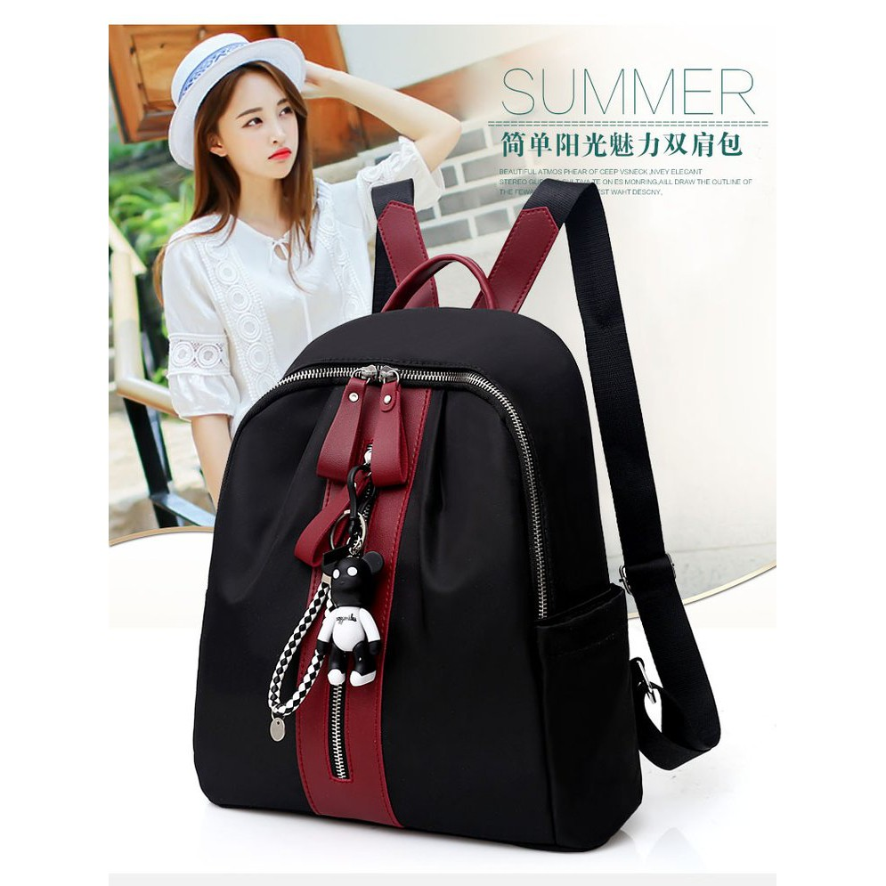 Tas Ransel Fashion model Tas Import red and green line Batam READY STOCK  ef9ba560ce