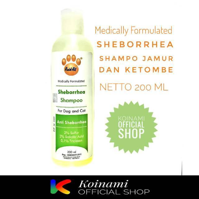SHAMPO SHEBORRHEA 200ml hijau / SHAMPO jamur kucing anjing / raid all