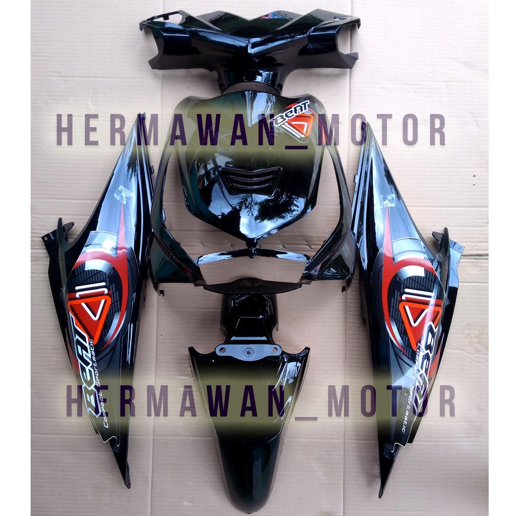 Honda Beat Body Alus Honda Beat Karbu Warna Hitam Th 2010 2010 Pakai Stiker Lama Shopee Indonesia