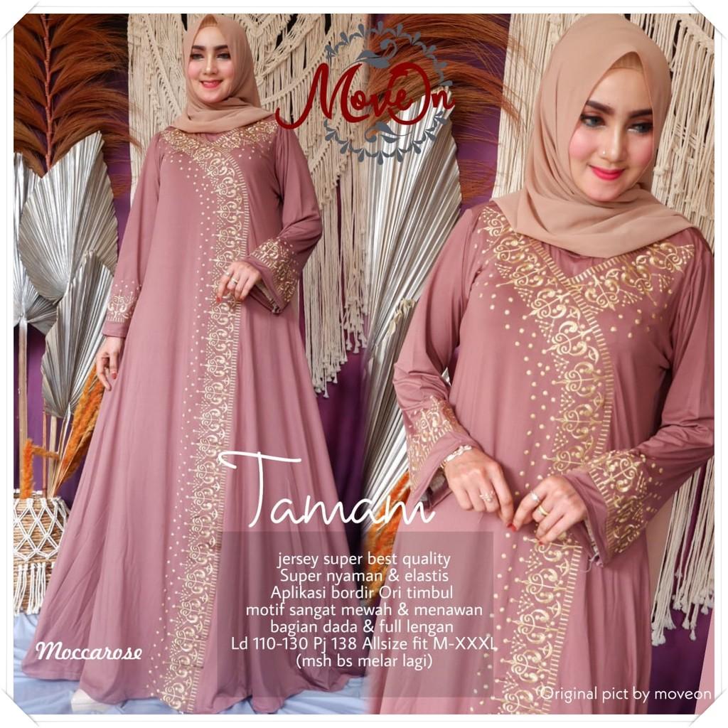 Baju Gamis Dress Muslim Wanita Remaja Tamam Maxi Casual Jersey Original Murah Terbaru Shopee Indonesia