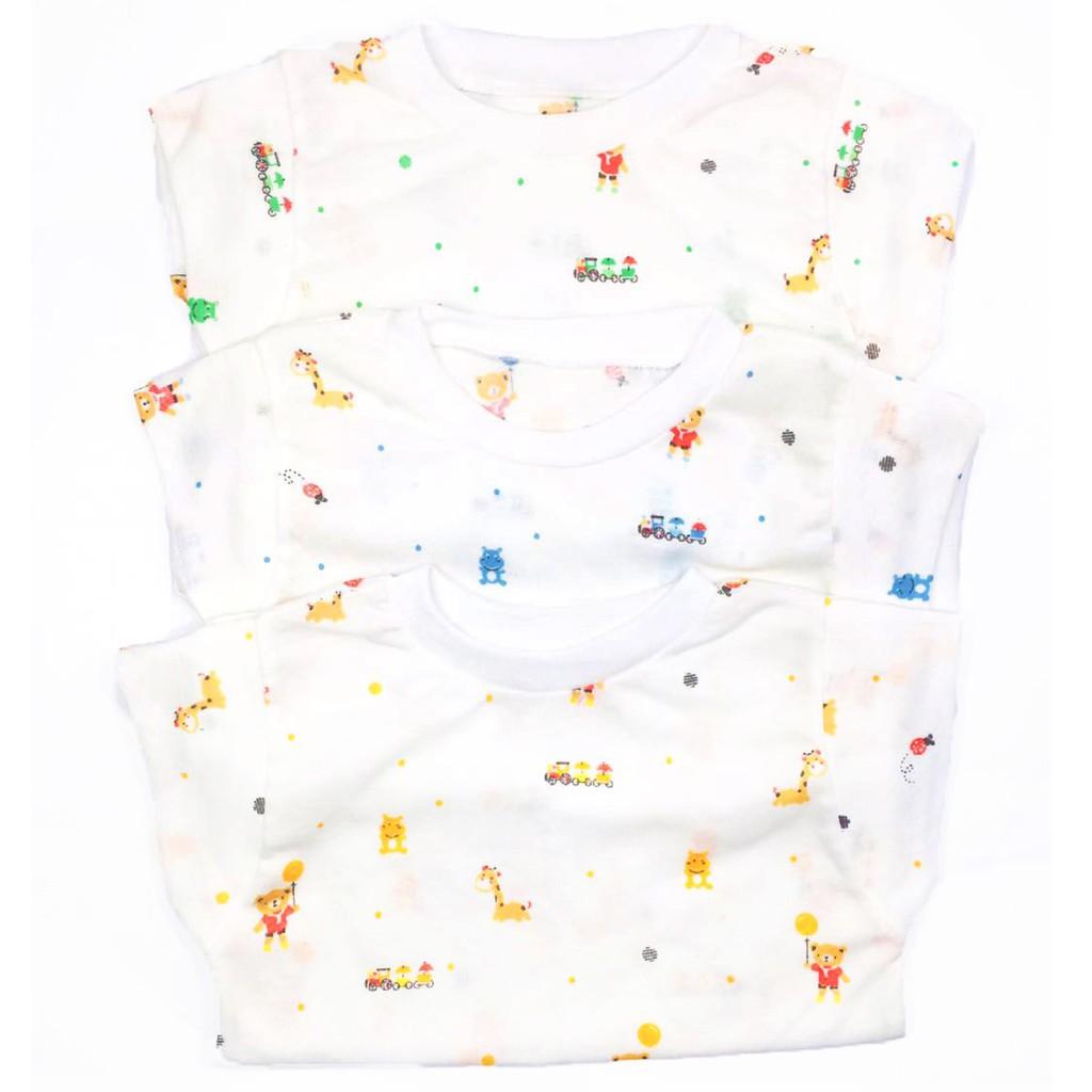 Baju bayi 3pcs BEARBEE baju oblong lengan pendek size newborn(0-6bulan)