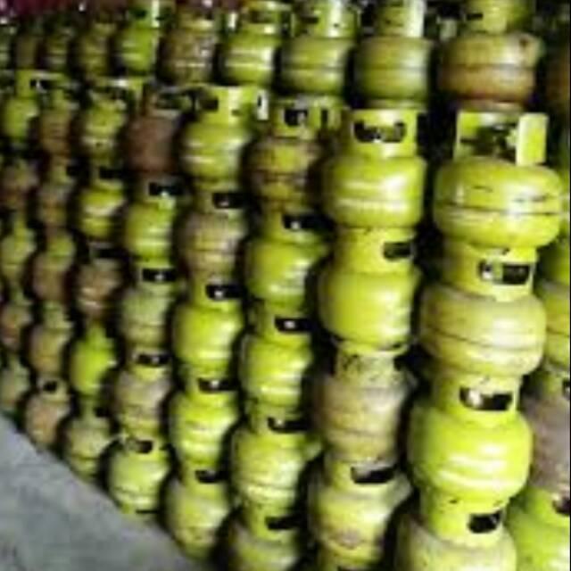 TABUNG GAS 3KG KONDISI BEKAS.HARGA Rp144500 UTK 100 TABUNG SAJA