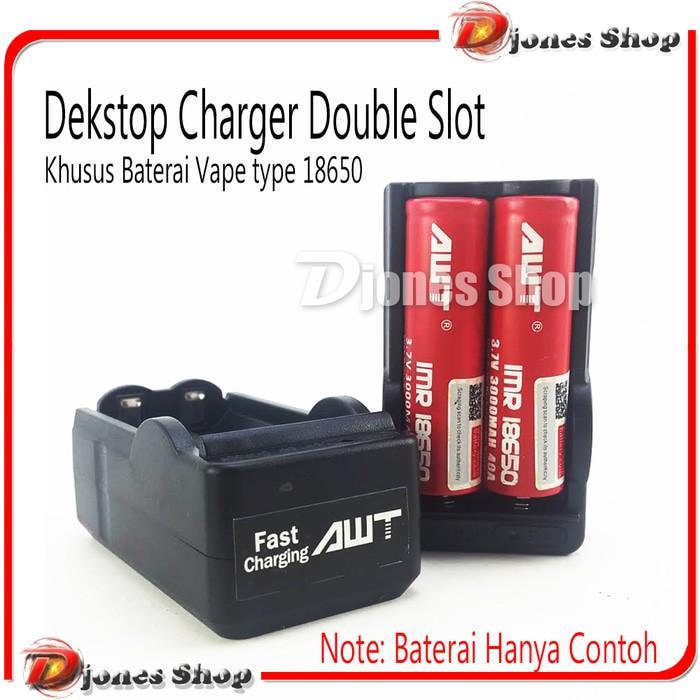 charger 18650 2 slot untuk batre kipas portable senter swat mainan vape dll fast charging colokan   Shopee Indonesia