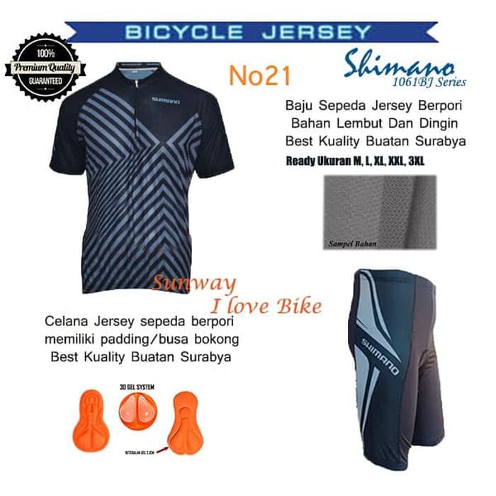 Baju Sepeda Shimano Jersey Tangan pendek Ukuran M, L, XL, XXL | Shopee