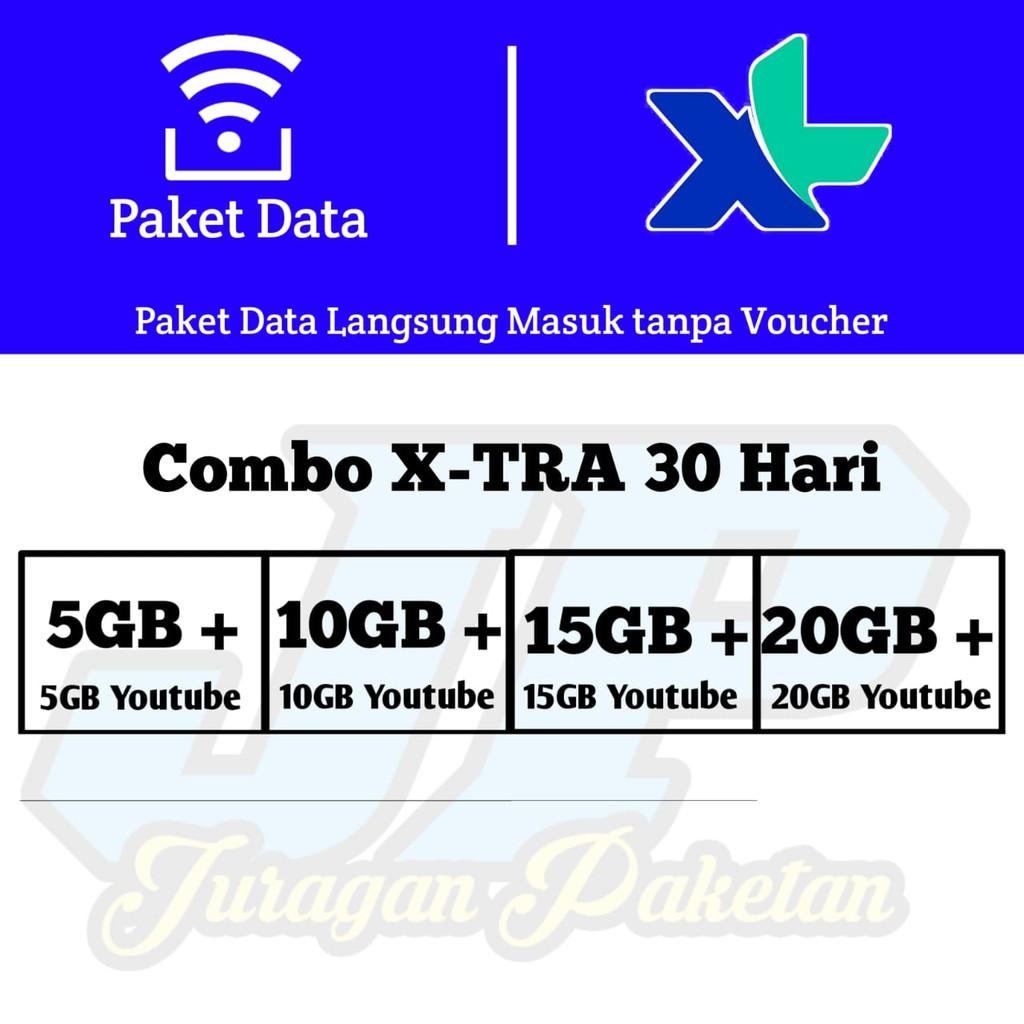 Paket Data Kuota Internet XL Combo XTRA Murah - Paket Data XL 10gb 20gb 30gb 40gb Termurah
