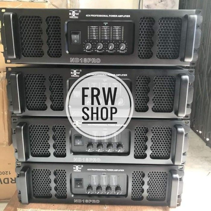 POWER RDW ND 18 PRO / ND18PRO / ND-18 PRO 4 CHANNEL