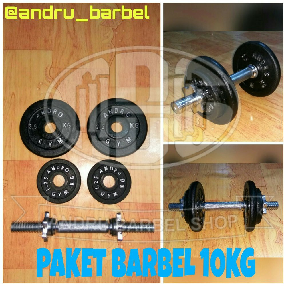 Barbel 1 Set 15kg Paket 15 Kg Shopee Indonesia 6