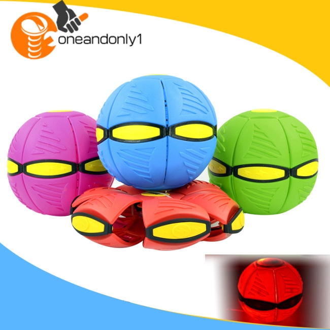 Magic Flying Saucer Ball Deformation Ufo Ball With Led Light And Music Elastic Vent Ball Gift For Shopee Indonesia